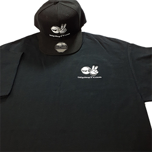 TEE SHIRT SHORT SLEEVE BLACK (embroidered logo)