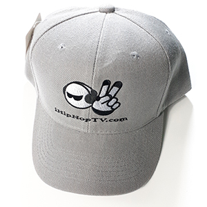 HAT VELCRO BACK GRAY (embroidered logo)
